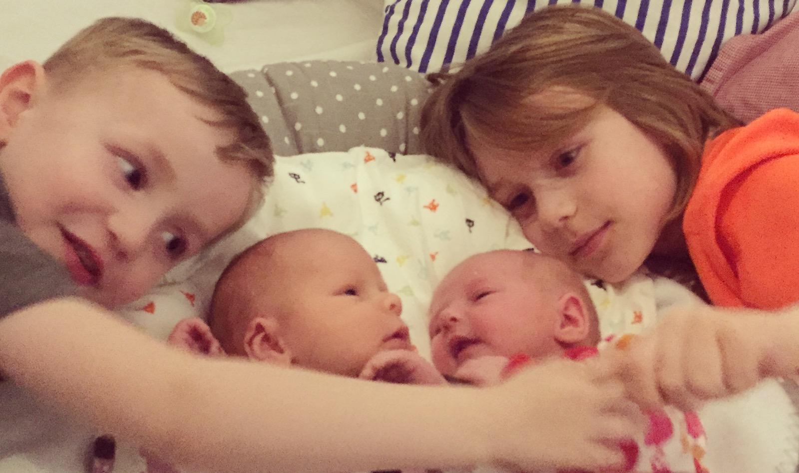 Onsdag och nytt poddavsnitt, första tiden som fyrabarnsfamilj.
